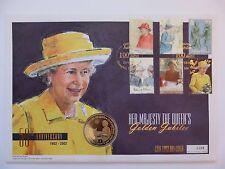 GB Isle of Man Coin FDC Queen Golden Jubilee / Crown  29 October 2001 Elizabeth