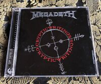 MEGADETH cd CRYPTIC WRITINGS  Remastered Remixed + bonus tracks Metallica