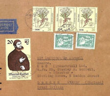 Ai193 1982 East Germany Ddr Commercial Martin Luther Issue Cover London