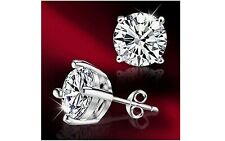 Ladies Silver Plated Single Crystal Stud Fit Fashion Earrings