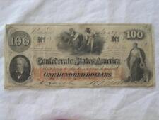 $100.00 CONFEDERATE STATES CURRENCY1862 CIVIL WAR NOTE RICHMOND, VA