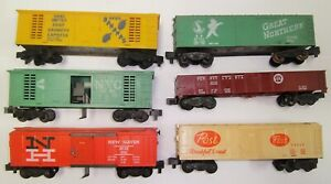 American Flyer Lot Of 6 Pike Master Rolling Stock Cars Runners No RESERVE