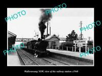 OLD LARGE HISTORIC PHOTO OF WALLERAWANG NSW VIEW OF THE RAILWAY STATION c1940
