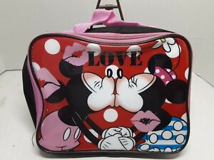 """Disney Mickey & Minnie """"Love"""" Insulated Lunch Bag with Handles."""