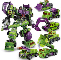Transformers NBK Devastator Transformation Boy Toy Oversize Action Figure 6 IN 1