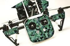 DJI Inspire 1 Quadcopter/Drone, Transmitter, Battery Wrap/Skin | Digi Camo Green