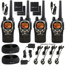 4 Pack Midland Waterproof 36 Mile Two Way Walkie Talkie Radio Headset GXT1000VP4