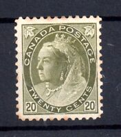 Canada QV 1898 20c olive green mint LHM SG#165 WS15479
