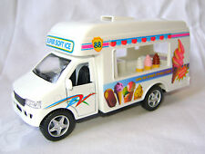 NEW PULL BACK ACTION TOY MODEL ICE CREAM VAN TRUCK DIECAST & PLASTIC