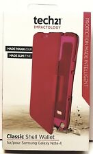 Tech21 Classic Shell Wallet Case Cover N910 Samsung Note 4 Pink New sealed box