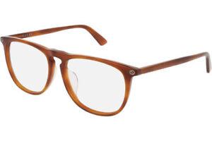 Gucci GG0120OA 003 55MM Sunglasses Havana Frame Clear Lenses 55mm