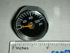 """McMaster Carr 9767T21 1200 Psi Miniature Pressure Gauge 1"""" Benjamin Marauder"""