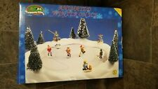 New ListingVintage Christmas Avenue Animated Winter on Ice Skating Rink Pond