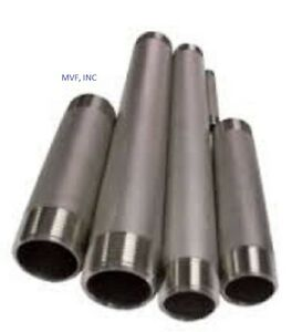 """3/8"""" X 6"""" Threaded NPT Pipe Nipple S/40 (STD) Welded 304/L Stainless <SN2031011"""