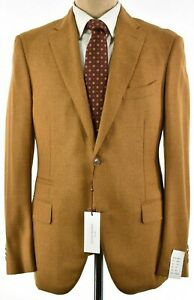 Luciano Barbera NWT Sport Coat Size 54 44R US In Golden Tan Wool/Cashmere