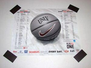 """UNLV Runnin Rebels Basketball 2012-13 Team Poster NCAA 20""""x16"""" NEW RARE"""