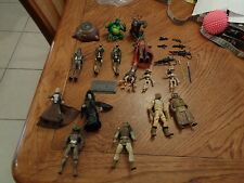 STAR WARS Vintage action figure lot W/Figures,Weapons,Light sabers 25 in all