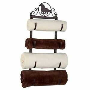 Western Horse Metal Towel Rack
