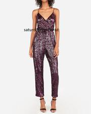 new EXPRESS r29 pick pink shimmer surplice dress  SEQUIN JUMPSUIT s