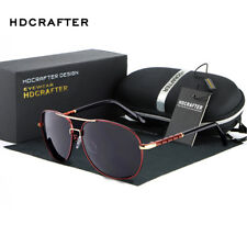 fa75a929f54 Man Polarized Sunglasses HDCRAFTER Driving Glasses DESIGNER Men Pilot  Shades Red