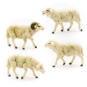Krippenfiguren Schafe Schafgruppe Marolin Plastik 74221 Kunststofffigur zu 12cm