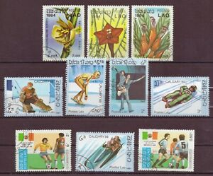 Laos, Flowers & Sports, Cancelled to Order, 1984 - 1987