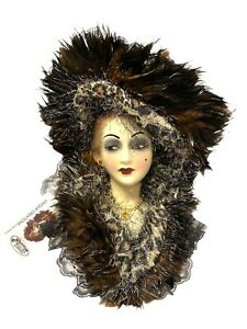 Unique Creations Lady Face Mask Wall Hanging Decor San Francisco Music Box Co.