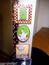 Mary Engelbreit Xmas Sticker Jump For Joy Sign, Snowbaby, Parents & Baby