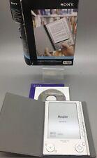 """Sony PRS-505 6"""" Silver Digital Portable eBook Reader Tablet - B01"""