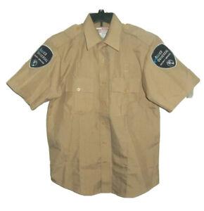 National Patrol Uniform Shirt Men's 15-15.5 Allied Universal Security Tan