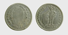 s529_86)  Swiss Cantons 1813 Schweiz - Tessin Swiss TICINO 1 Franc (Franco) 1813