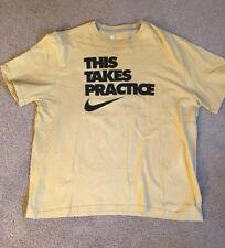 Nike NFL Team Apparel T-Shirt Mens 2XL SS This Takes Practice Yellow