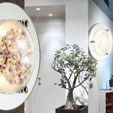 Led Design plafonniers 8W miroir cristaux de verre de la lampe d'argent violet