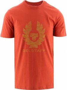 Belstaff Men's Coteland T-Shirt Cotton Red Casual Crew Neck Top - Regular Fit