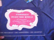 1940 Studebaker President Champion Commander Portfolio Brochure Prospekt