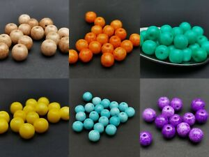 Czech glass round pastel beads 7 mm pack of 30 - Pick a colour