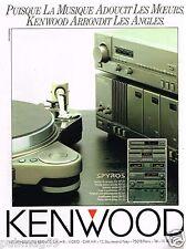 Publicité Advertising 1989 La Chaine Hi-Fi Kenwood