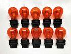 Bulk Lot Of 10 3157 Amber Turn Signal Parking Drl Light Bulbs Fast Usa Shipping
