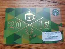 """Canada Series Starbucks """"CLASS OF 2015"""" Gift Card - New No Value"""