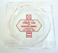 Vintage red variant Pioneer Club & Cocktail Lounge Ashtray Downtown Las Vegas Nv