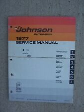 1977 Johnson Outboard Motor 2 HP Model 2R77 Service Manual Marine Engine Boat R