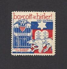 Boycott Hitler Not Germany – Nazi Products Not Wanted propaganda stamp