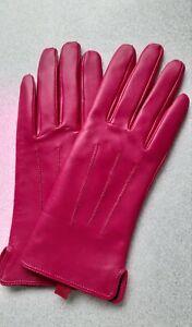 Damen Handschuhe , Rot , Fritz Nitzsche , Gr. 7