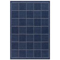 NAVY BLUE Kitchen Utility Plain Runner Rug Sisal like Checked Flatweave Non Slip