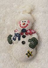 Christmas Pin Brooch Snowman Wreath Frosty Winter Wonderland Red Nose Acryli Ch2