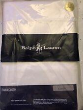 "New RALPH LAUREN 100% Cotton White Oblong Tablecloth  60"" x 120"""