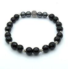 Stone Bracelet Onyx Hematite Bracciale Pietre Pietra Nera Onice Ematite Charms