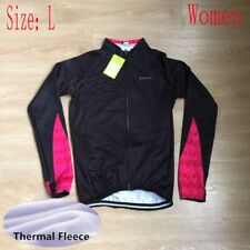 Womens Team Cycling Long Sleeve Jersey Bike Tops Thermal Fleece Bicycle Shirt L