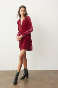 Anthropologie  Melody Velvet Tunic Dress NWT new size L new