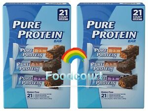 2 Packs Pure Protein Bars Variety Pack 21 ct 37.03 oz Each Pack